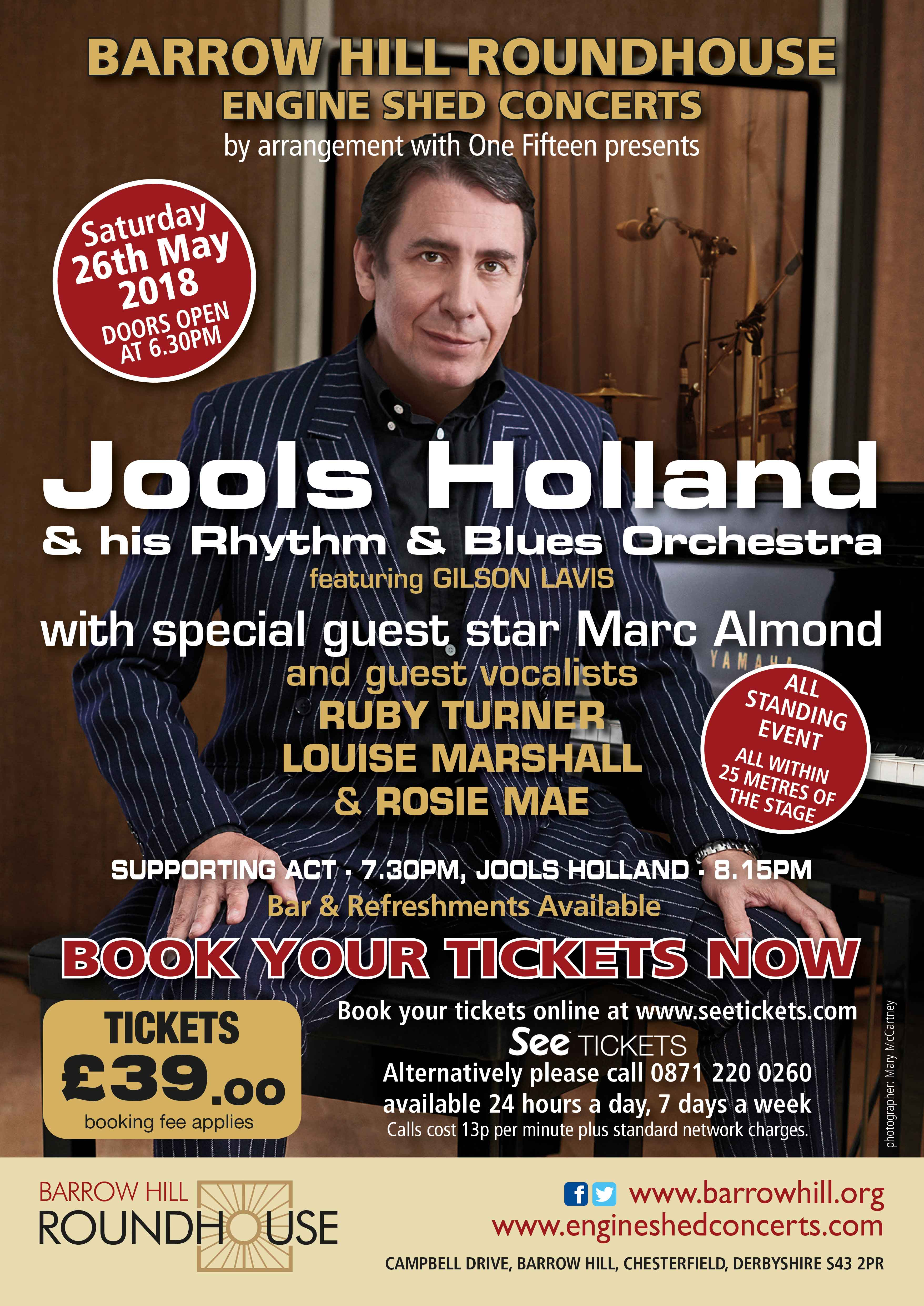 Jools Holland at barrow Hill Roundhouse, Chesterfield